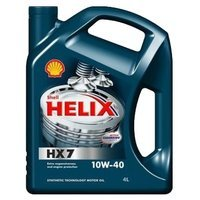 Масло Shell Helix HX7 10W-40 (Helix Plus) (4л.) (4шт.) мот.п/синт.